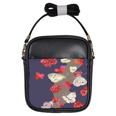 Original Butterfly Carnation Girls Sling Bags by Mariart