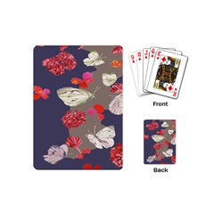 Original Butterfly Carnation Playing Cards (mini)  by Mariart