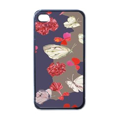Original Butterfly Carnation Apple Iphone 4 Case (black) by Mariart