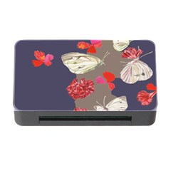 Original Butterfly Carnation Memory Card Reader With Cf by Mariart
