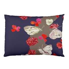 Original Butterfly Carnation Pillow Case (two Sides) by Mariart