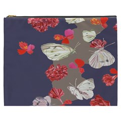 Original Butterfly Carnation Cosmetic Bag (xxxl)  by Mariart