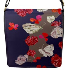 Original Butterfly Carnation Flap Messenger Bag (s) by Mariart