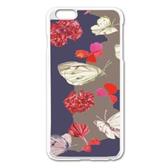 Original Butterfly Carnation Apple Iphone 6 Plus/6s Plus Enamel White Case by Mariart