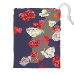 Original Butterfly Carnation Drawstring Pouches (xxl) by Mariart