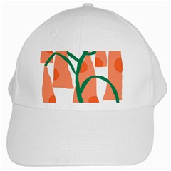 Portraits Plants Carrot Polka Dots Orange Green White Cap by Mariart