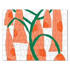 Portraits Plants Carrot Polka Dots Orange Green Rectangular Jigsaw Puzzl by Mariart