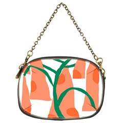 Portraits Plants Carrot Polka Dots Orange Green Chain Purses (two Sides)  by Mariart