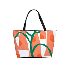 Portraits Plants Carrot Polka Dots Orange Green Shoulder Handbags by Mariart