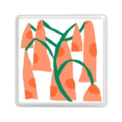 Portraits Plants Carrot Polka Dots Orange Green Memory Card Reader (square)  by Mariart