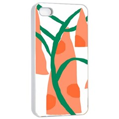 Portraits Plants Carrot Polka Dots Orange Green Apple Iphone 4/4s Seamless Case (white) by Mariart