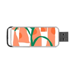 Portraits Plants Carrot Polka Dots Orange Green Portable Usb Flash (one Side) by Mariart