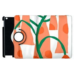 Portraits Plants Carrot Polka Dots Orange Green Apple Ipad 3/4 Flip 360 Case by Mariart