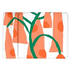 Portraits Plants Carrot Polka Dots Orange Green Samsung Galaxy Tab 10 1  P7500 Flip Case