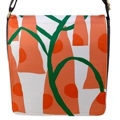 Portraits Plants Carrot Polka Dots Orange Green Flap Messenger Bag (s) by Mariart