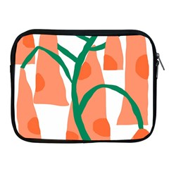 Portraits Plants Carrot Polka Dots Orange Green Apple Ipad 2/3/4 Zipper Cases by Mariart