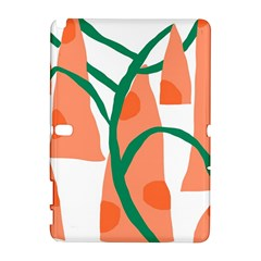Portraits Plants Carrot Polka Dots Orange Green Galaxy Note 1 by Mariart