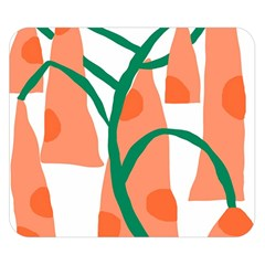 Portraits Plants Carrot Polka Dots Orange Green Double Sided Flano Blanket (small)  by Mariart