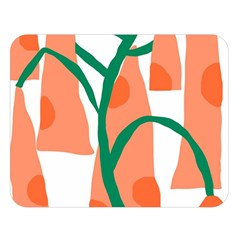 Portraits Plants Carrot Polka Dots Orange Green Double Sided Flano Blanket (large)  by Mariart