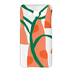 Portraits Plants Carrot Polka Dots Orange Green Samsung Galaxy A5 Hardshell Case  by Mariart