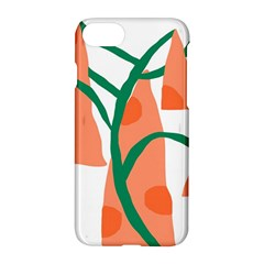 Portraits Plants Carrot Polka Dots Orange Green Apple Iphone 7 Hardshell Case by Mariart