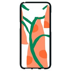 Portraits Plants Carrot Polka Dots Orange Green Samsung Galaxy S8 Black Seamless Case by Mariart