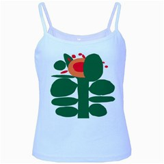 Portraits Plants Sunflower Green Orange Flower Baby Blue Spaghetti Tank by Mariart