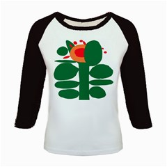 Portraits Plants Sunflower Green Orange Flower Kids Baseball Jerseys by Mariart