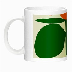 Portraits Plants Sunflower Green Orange Flower Night Luminous Mugs by Mariart