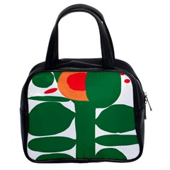 Portraits Plants Sunflower Green Orange Flower Classic Handbags (2 Sides) by Mariart