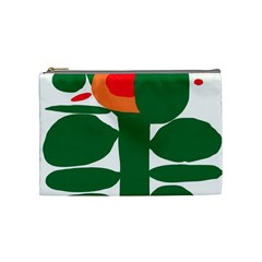 Portraits Plants Sunflower Green Orange Flower Cosmetic Bag (medium)  by Mariart