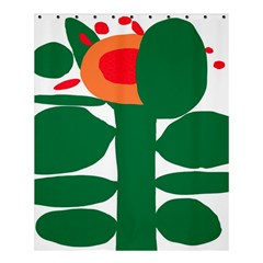 Portraits Plants Sunflower Green Orange Flower Shower Curtain 60  X 72  (medium)  by Mariart