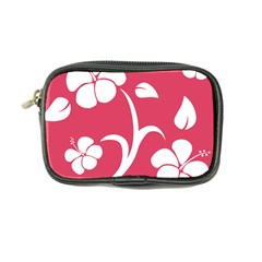 Pink Hawaiian Flower White Coin Purse by Mariart