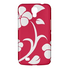 Pink Hawaiian Flower White Samsung Galaxy Mega 6 3  I9200 Hardshell Case