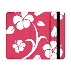 Pink Hawaiian Flower White Samsung Galaxy Tab Pro 8 4  Flip Case by Mariart