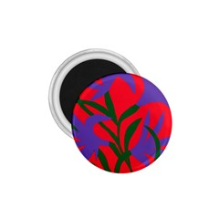 Purple Flower Red Background 1 75  Magnets by Mariart