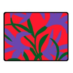 Purple Flower Red Background Fleece Blanket (small) by Mariart