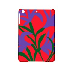Purple Flower Red Background Ipad Mini 2 Hardshell Cases by Mariart