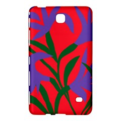 Purple Flower Red Background Samsung Galaxy Tab 4 (8 ) Hardshell Case  by Mariart