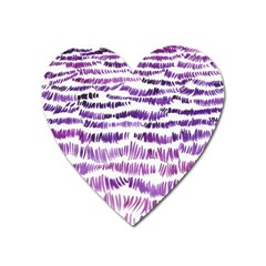Original Feather Opaque Color Purple Heart Magnet by Mariart