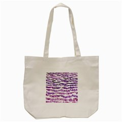 Original Feather Opaque Color Purple Tote Bag (cream) by Mariart