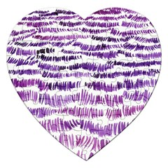 Original Feather Opaque Color Purple Jigsaw Puzzle (heart) by Mariart