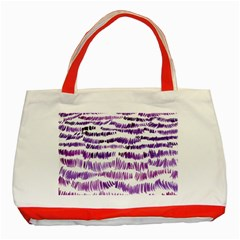Original Feather Opaque Color Purple Classic Tote Bag (red) by Mariart