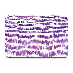 Original Feather Opaque Color Purple Plate Mats by Mariart