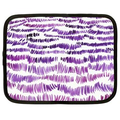 Original Feather Opaque Color Purple Netbook Case (large) by Mariart