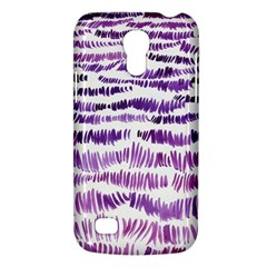 Original Feather Opaque Color Purple Galaxy S4 Mini by Mariart