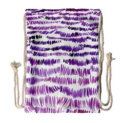 Original Feather Opaque Color Purple Drawstring Bag (large) by Mariart