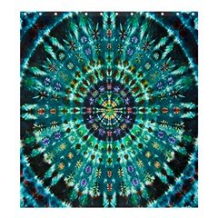 Peacock Throne Flower Green Tie Dye Kaleidoscope Opaque Color Shower Curtain 66  X 72  (large)  by Mariart