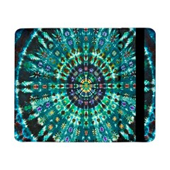 Peacock Throne Flower Green Tie Dye Kaleidoscope Opaque Color Samsung Galaxy Tab Pro 8 4  Flip Case by Mariart