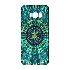 Peacock Throne Flower Green Tie Dye Kaleidoscope Opaque Color Samsung Galaxy S8 Hardshell Case  by Mariart